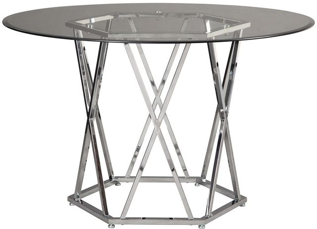 Signature Design by Ashley® Madanere Chrome Round Dining Room Table-D275-15