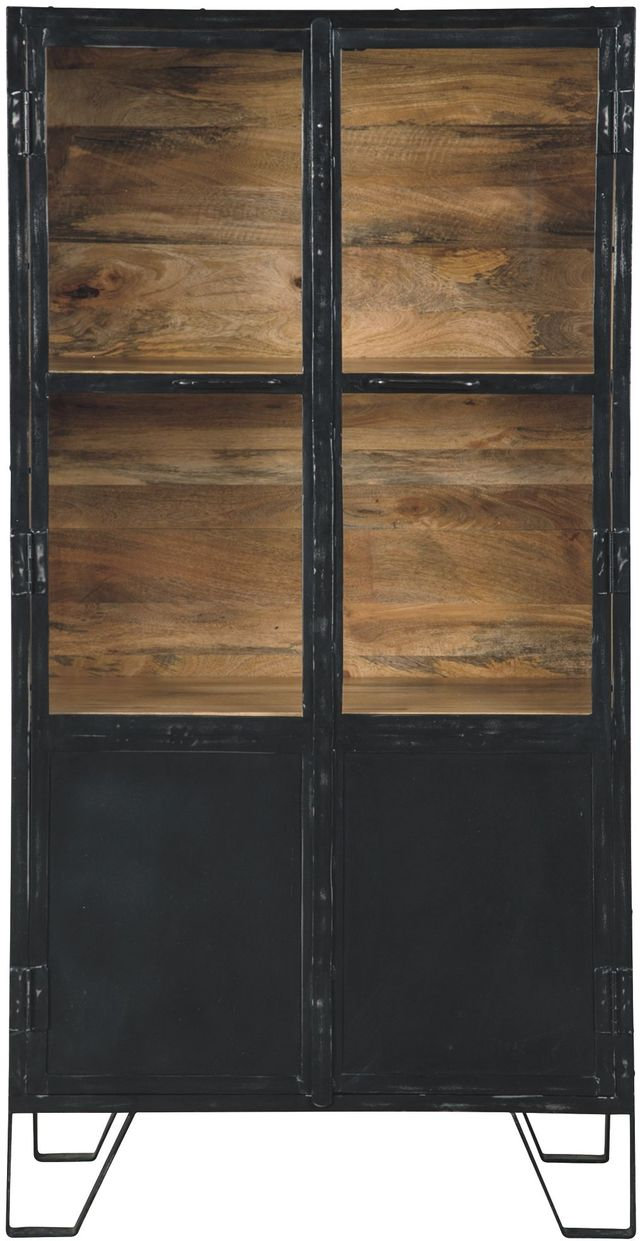 Signature Design by Ashley® Gabinwell Black/Brown Accent Cabinet-A4000213