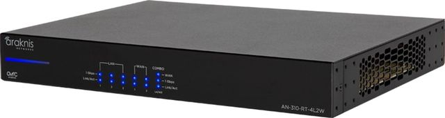 SnapAV Araknis Networks® 310 Series Black Dual-WAN Gigabit VPN Router-AN-310-RT-4L2W