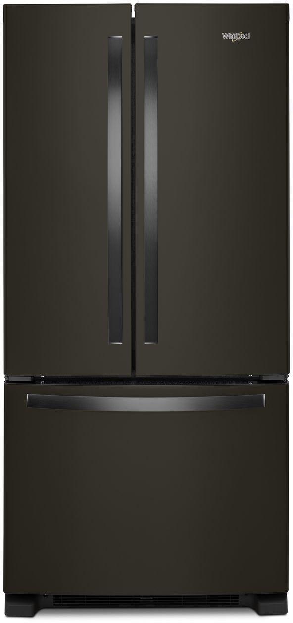 Whirlpool® 22 Cu. Ft. Wide French Door Refrigerator-Fingerprint Resistant Black Stainless Steel-WRF532SMHV