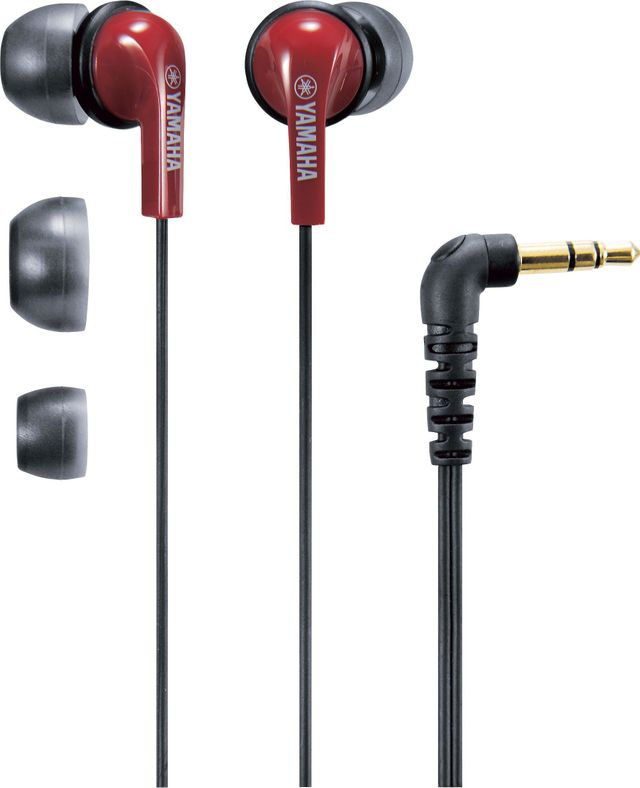 Yamaha®  Red Berry Brown In-Ear Headphones-EPH-20BR