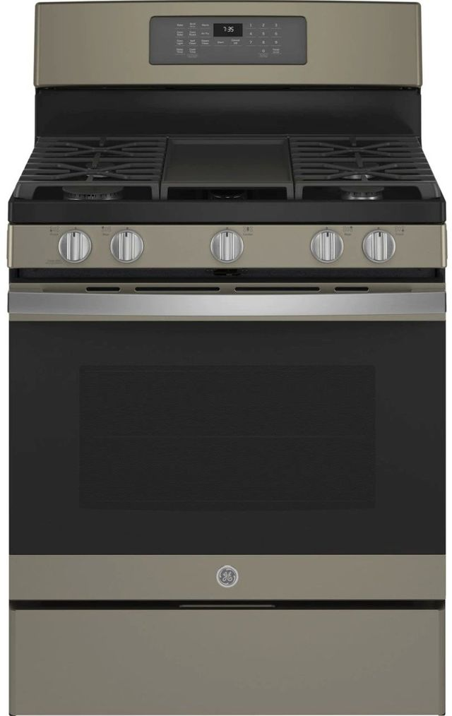 """GE® 30"""" Slate Free Standing Gas Convection Range-JGB735EPES"""