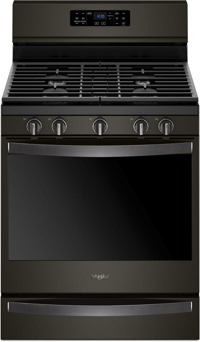 """Whirlpool® 30"""" Freestanding Gas Range-Fingerprint Resistant Black Stainless Steel-WFG775H0HV"""