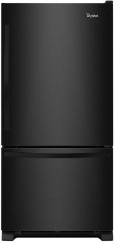 Whirlpool® 19 Cu. Ft. Black Bottom Freezer Refrigerator-WRB329DFBB
