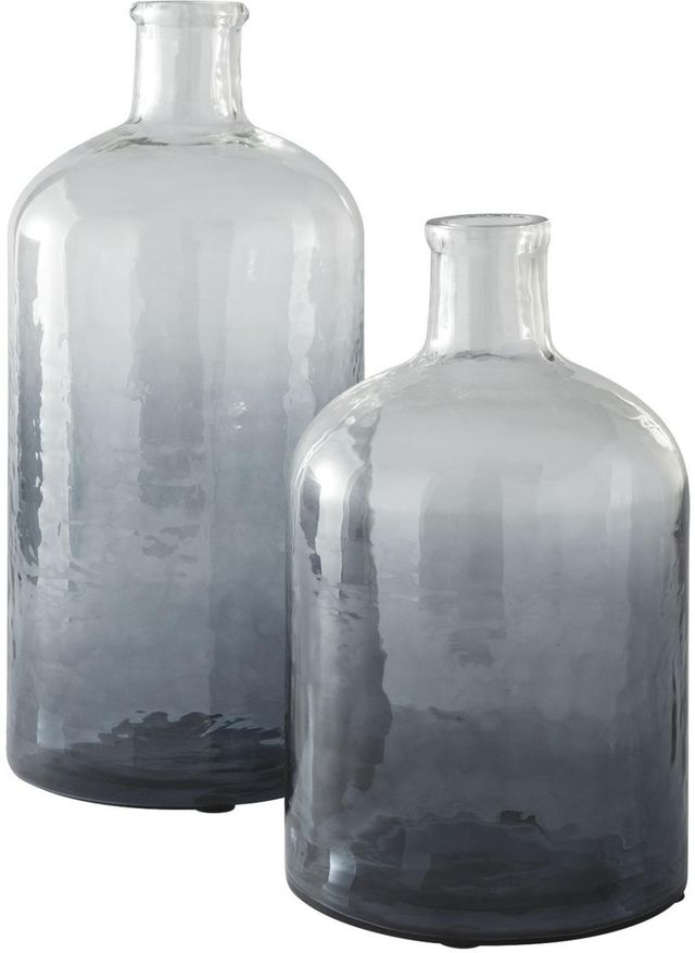 Signature Design by Ashley® Maleah Set of 2 Navy Glass Vase-A2000378
