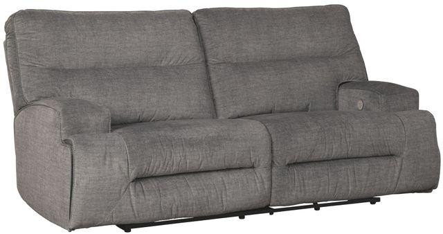 Canapé inclinable motorisé motorisé Coombs en tissu gris Signature Design by Ashley®-4530247