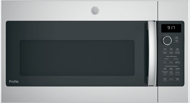 """GE Profile™ 29.88"""" Stainless Steel Over The Range Microwave-PVM9179SKSS"""