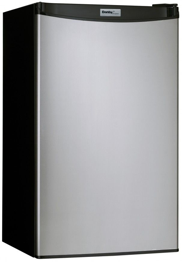 Danby® Designer® 3.2 Cu. Ft. Black Stainless Steel Compact Refrigerator-DCR032A2BSLDD