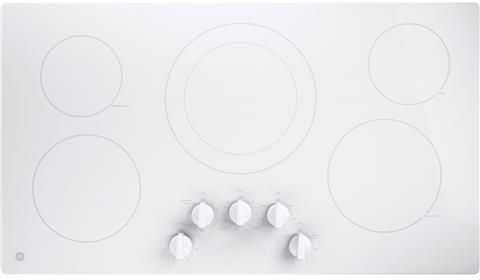 "GE® 36"" Built In Electric Cooktop-White-JP3036TLWW"