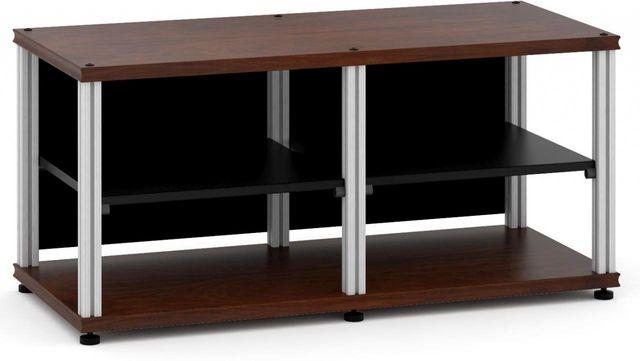 Salamander Designs® Synergy Twin 20 AV Cabinet-Dark Walnut/Aluminum-SN20W/A