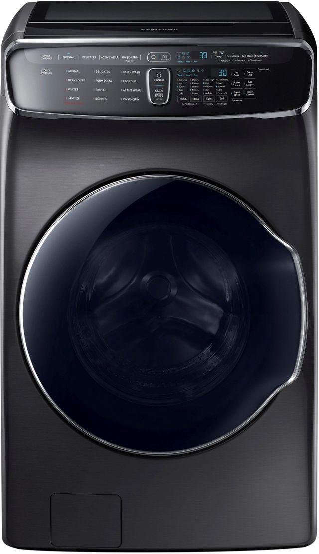 Samsung 6.0 Cu. Ft. Fingerprint Resistant Black Stainless Steel FlexWash™ Washer-WV60M9900AV