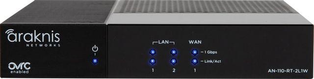 SnapAV Araknis Networks® 110 Series Single-WAN Gigabit VPN Router-AN-110-RT-2L1W
