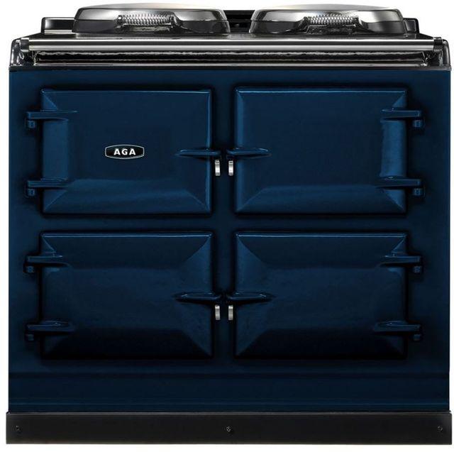 """AGA 39"""" Dark Blue Dual Control Natural Gas Range-ADC3G-DBL"""