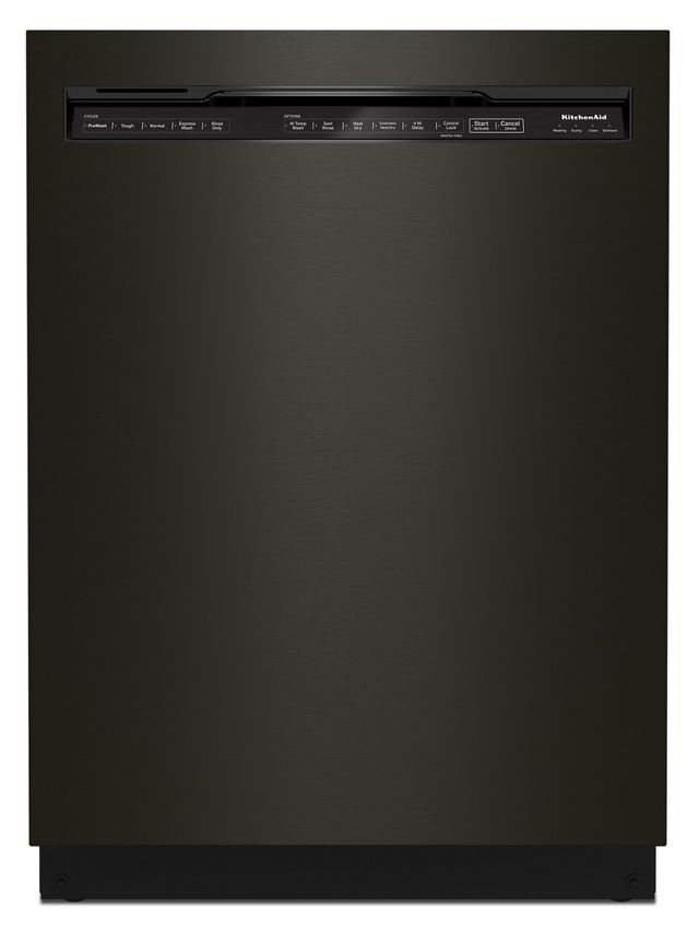 "KitchenAid® 24"" PrintShield™ Black Stainless Steel Built In Dishwasher-KDFM404KBS"
