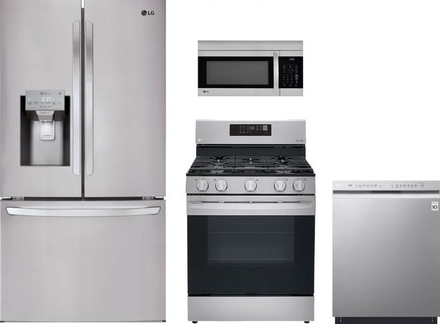 LG 4 Piece Kitchen Package-Stainless Steel-LGKITLRGL5823S