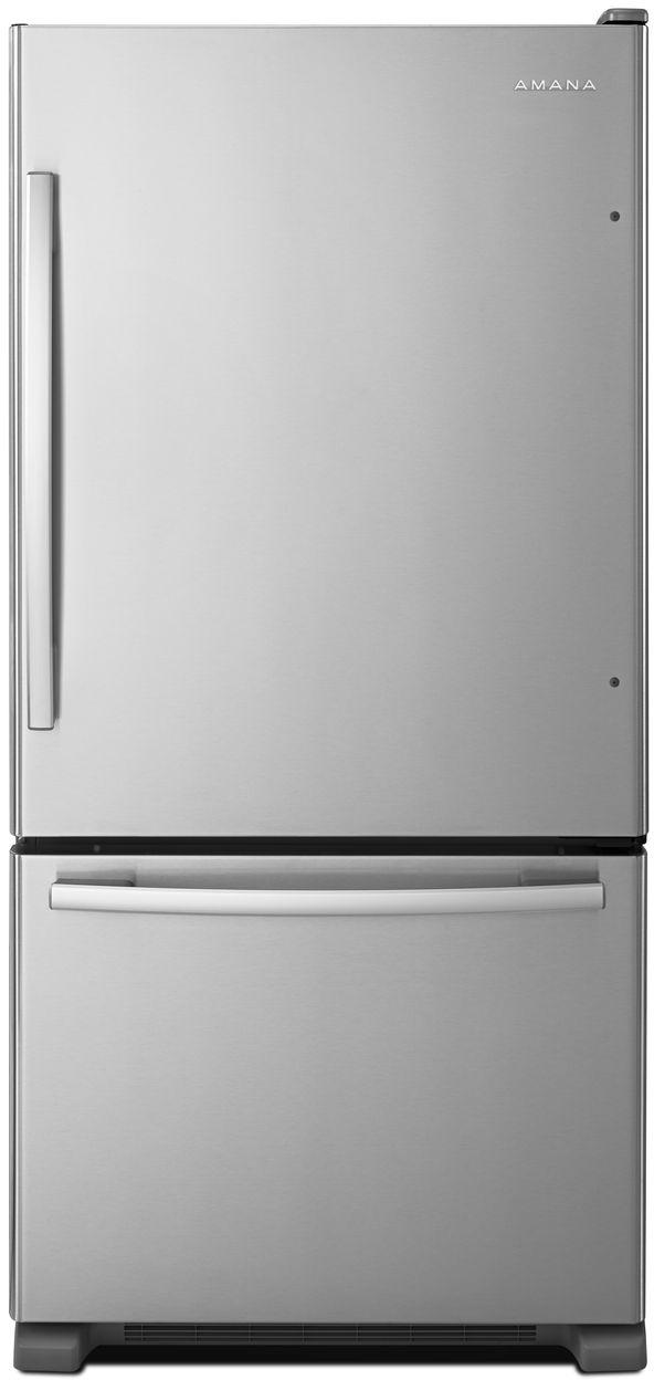 Amana® 22.07 Cu. Ft. Stainless Steel Bottom Freezer Refrigerator-ABB2224BRM
