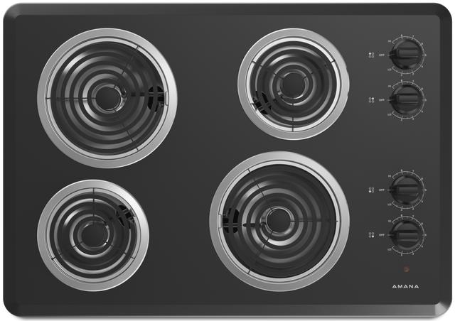 "Amana® 30"" Electric Cooktop-Black-ACC6340KFB"