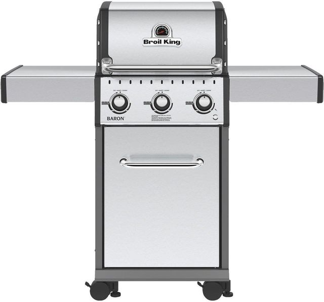 """Broil King® Baron 320 S 24"""" Stainless Steel Free Standing Grill-921554"""