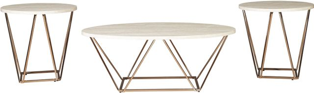 Signature Design by Ashley® Tarica 3 Piece Two-Tone Occasional Table Set-T385-13