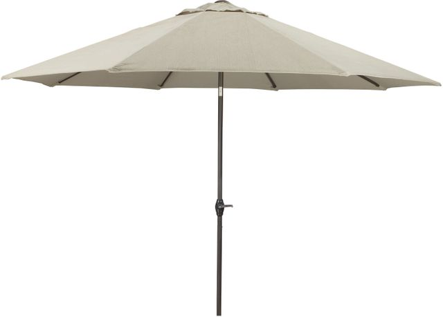 Signature Design by Ashley® Large Beige/Dark Brown Auto Tilt Octagonal Umbrella-P000-992