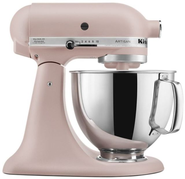 KitchenAid® Artisan® Series 5 Quart Feather Pink Stand Mixer-KSM150PSFT