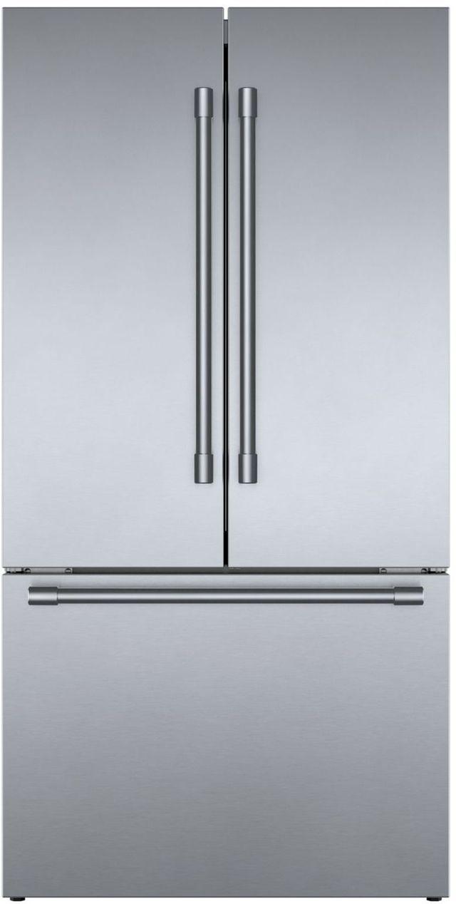 Bosch 800 Series 21 Cu. Ft. Stainless Steel French Door Bottom Freezer Refrigerator-B36CT81SNS