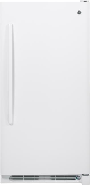 GE® 13.8 Cu. Ft. Upright Freezer-White-FUF14DHRWW
