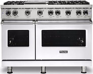 "Viking® Professional 5 Series 48"" Pro Style Gas Range-White-VGR5486GWHLP"