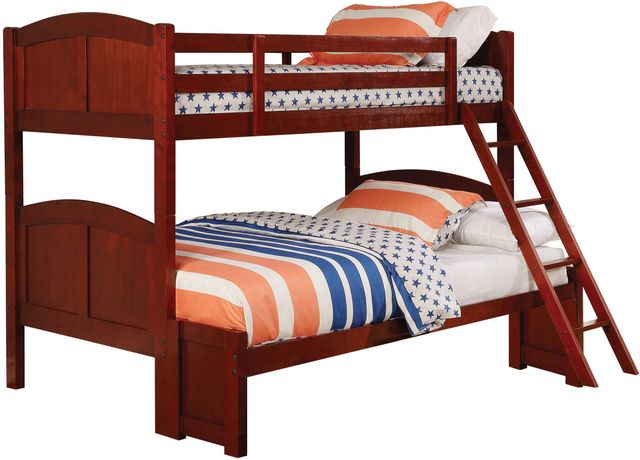 Coaster® Parker Youth Warm Chestnut Twin/Full Bunk Bed-460212