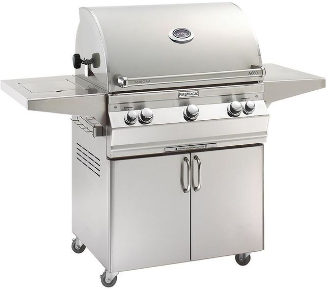 Fire Magic® Aurora Collection Portable Grill-Stainless Steel-A660s-6EAP-62
