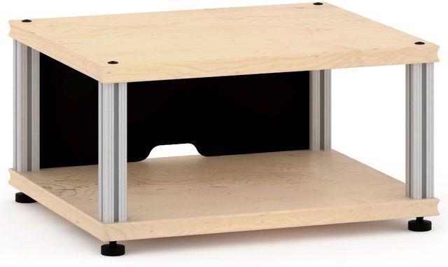 Salamander Designs® Synergy Single 10 AV Cabinet-Natural Maple/Aluminum-SU10M/A