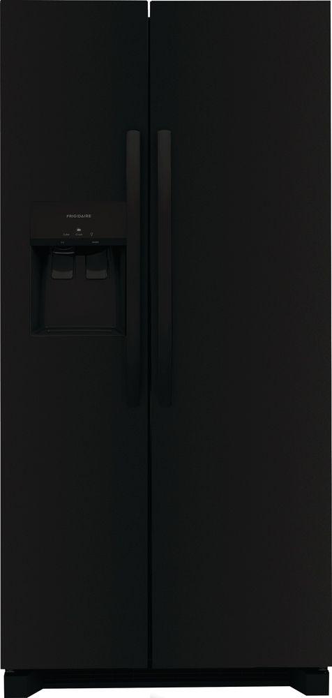 Frigidaire® 22.2 Cu. Ft. Black Standard Depth Side-by-Side Refrigerator-FRSS2323AB