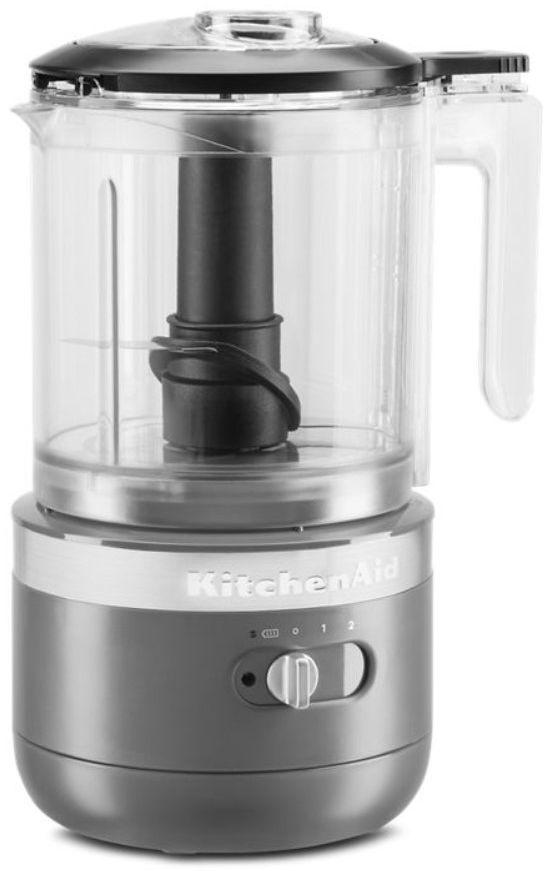 KitchenAid® 5 Cup Matte Charcoal Gray Cordless Food Processor-KFCB519DG