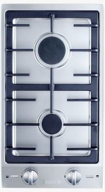 """Miele CombiSet™ Series 12"""" Double Gas Cooktop-Stainless Steel-CS1012-1G"""