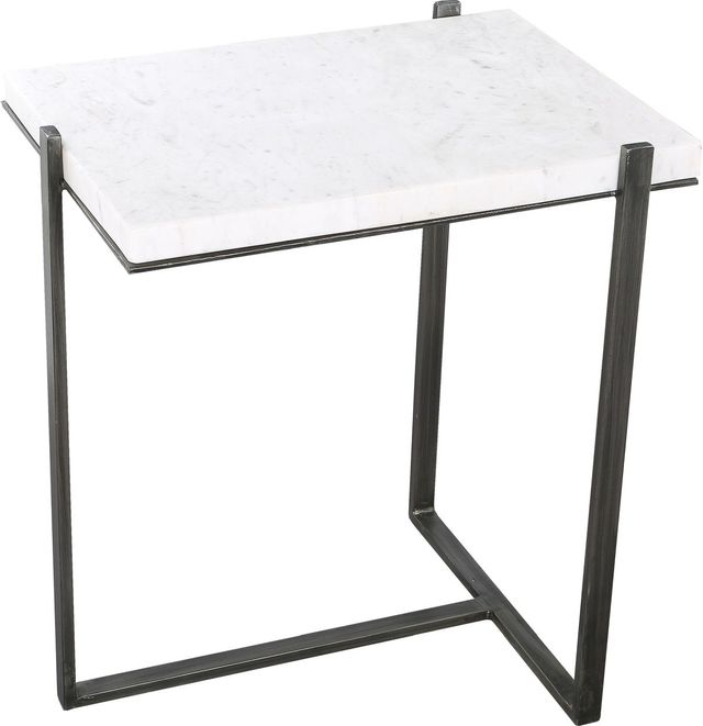Table d'appoint carrée Hyder, blanc, Renwil®-TAO368