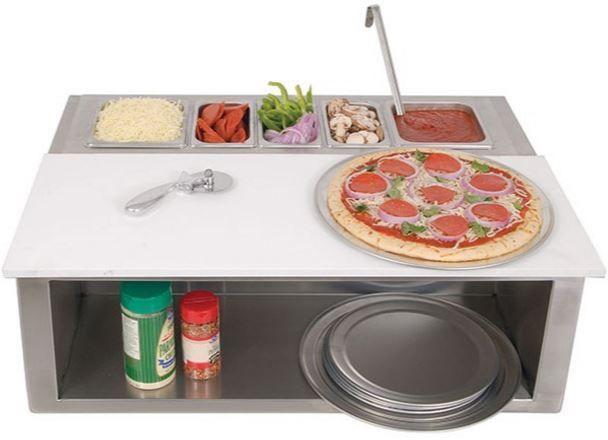 "Alfresco™ 30"" Pizza Prep & Garnish Rail-Stainless Steel-APS-30PPC"