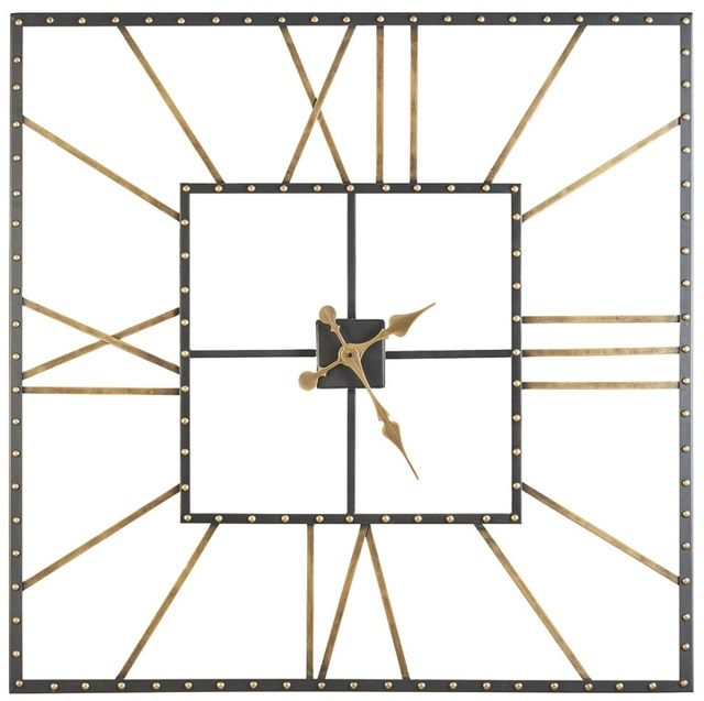 Signature Design by Ashley® Thames Black/Gold Wall Clock-A8010112