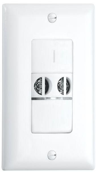 Crestron® STEINEL US VS 1 Ultrasonic Wall Switch Vacancy Sensor-White-GLA-US-VS-1-W