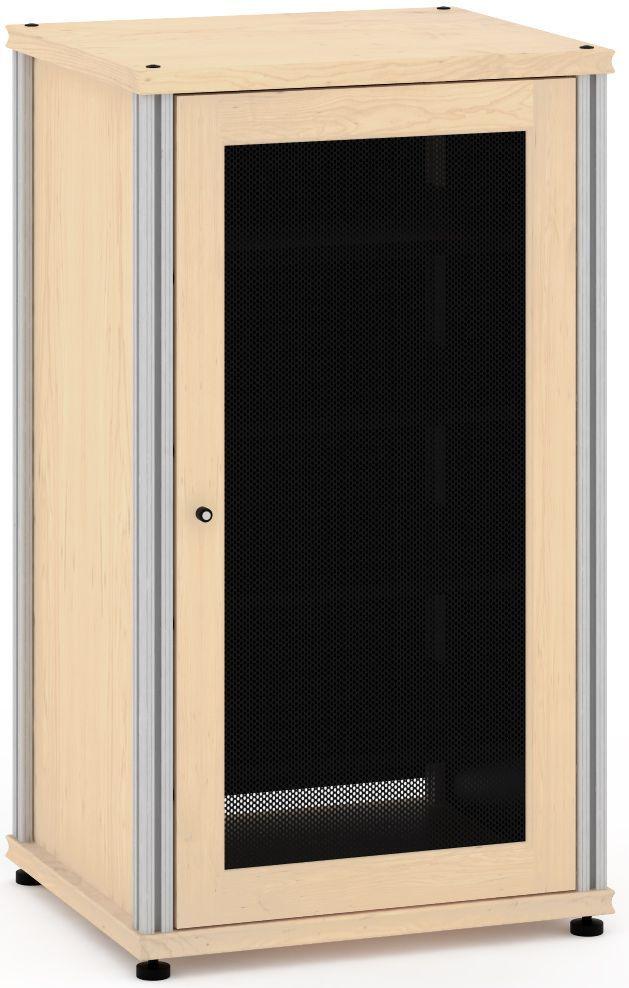 Salamander Designs® Synergy Model 402 AV Cabinet-Natural Maple/Aluminum-SB402M/A