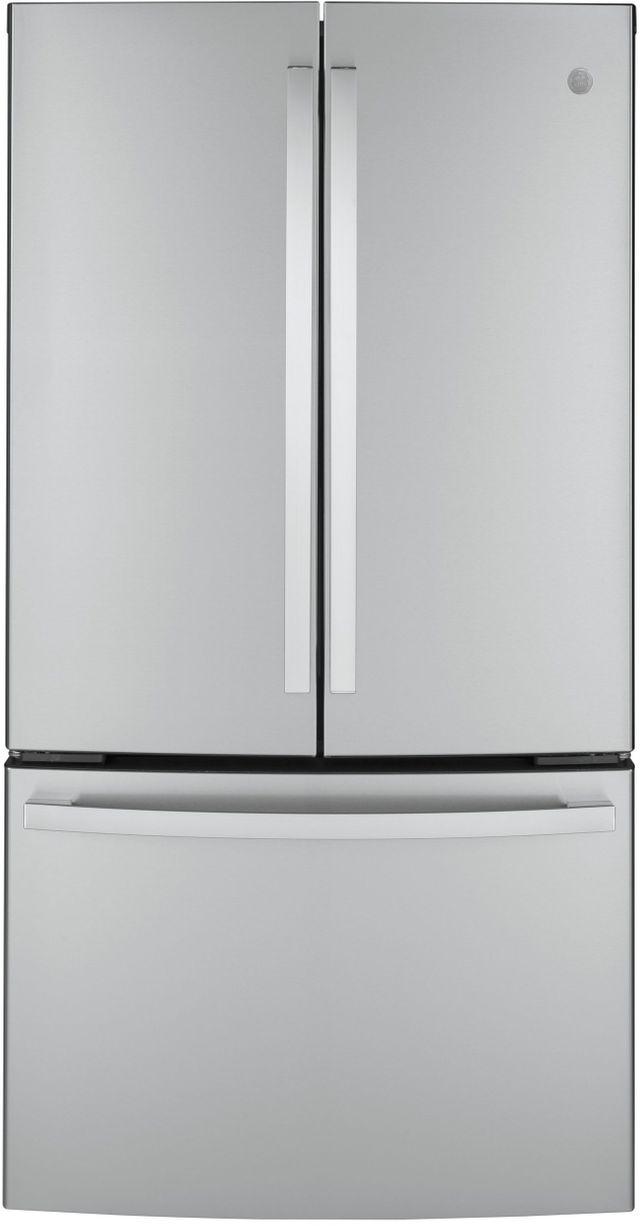 GE® 23.10 Cu. Ft. Fingerprint Resistant Stainless Steel Counter Depth French Door Refrigerator-GWE23GYNFS
