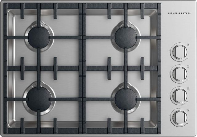 """Fisher Paykel Professional 30"""" Gas Cooktop-Stainless Steel-CDV2-304HN N"""