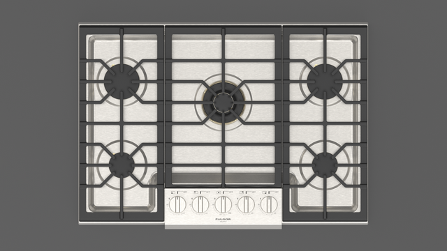 """Fulgor Milano Sofia 30"""" Stainless Steel Professional Gas Cooktop-F6PGK305S1"""