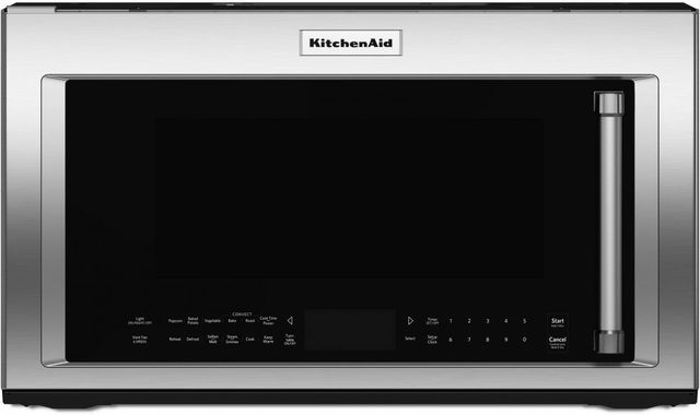 KitchenAid® 1.9 Cu. Ft. Stainless Steel Over The Range Microwave Hood Combination-KMHC319ESS