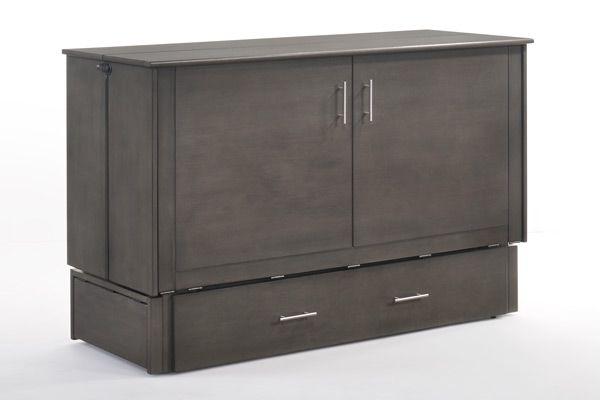 Lit cabinet grand Sagebrush, gris, Night & Day Furniture®-MUR-SAGB-QEN-STW