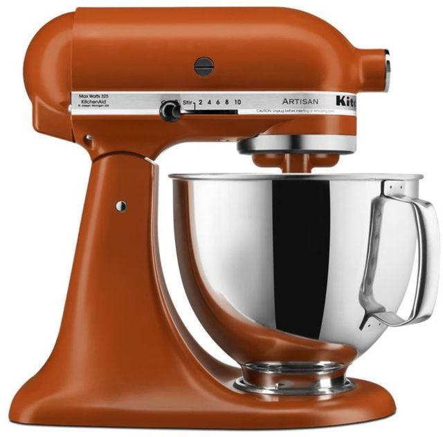 KitchenAid® Artisan® Series 5 Quart Scorched Orange Stand Mixer-KSM150PSSC