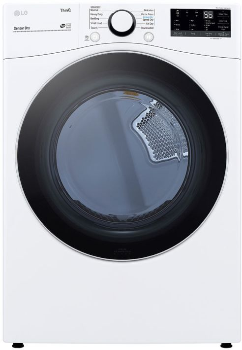 LG 7.4 Cu. Ft. White Front Load Electric Dryer-DLE3600W-15-W534