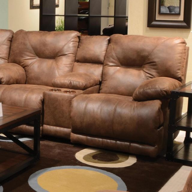 Catnapper® Voyager Lay Flat Reclining Console Loveseat-4389