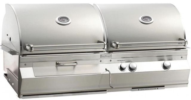 Fire Magic® Aurora Collection A830i Series Built In Combo Grill-Stainless Steel-A830i-5EAN-CB