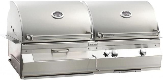 Fire Magic® Aurora Collection A830i Series Built In Combo Grill-Stainless Steel-A830i-5EAP-CB