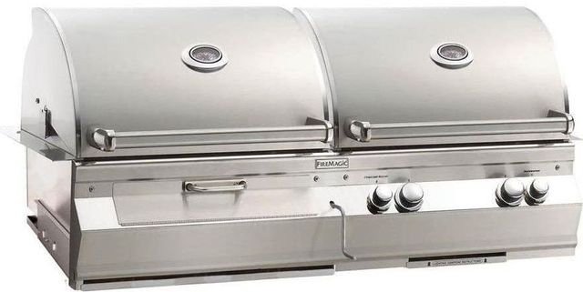 Fire Magic® Aurora Collection A830i Series Built In Combo Grill-Stainless Steel-A830i-6EAN-CB